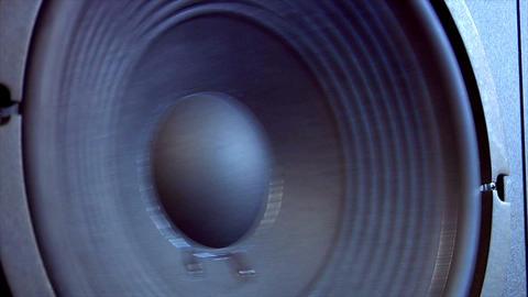 10618 speaker close side loop Stock Video Footage