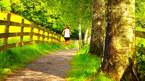 Runner On Nature Path 03 ARTCOLORED Footage