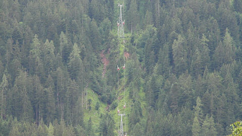 Ski Lifts in the Summer 02 Stock Video Footage