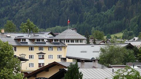 Small Town in Austria Tirol 01 Stock Video Footage