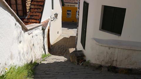 Old European Village 03 Stock Video Footage