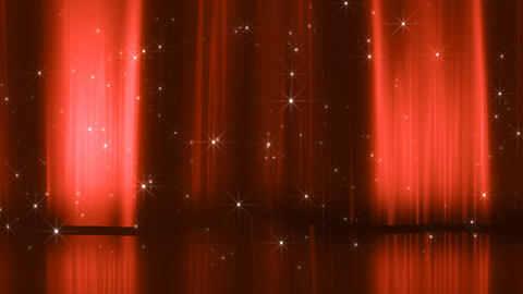 Stage Curtain 3 Dc2 HD Stock Video Footage