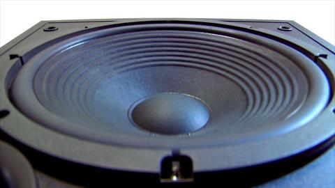 10621 speaker big move loop Stock Video Footage
