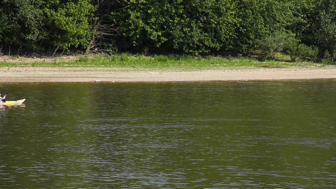 Kayaker on River Stock Video Footage