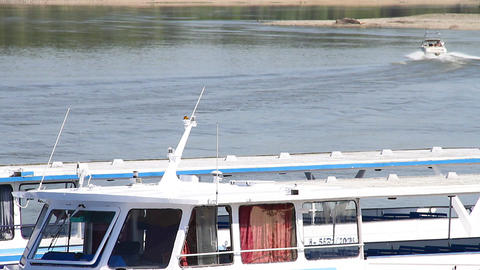 Motorboat on River 02 Stock Video Footage