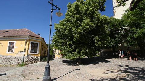 Old European Village 08 Stock Video Footage