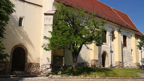 Old European Village 15 church Stock Video Footage