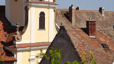 Old European Village 19 rooftops Stock Video Footage