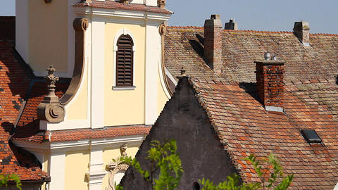 Old European Village 19 rooftops Footage