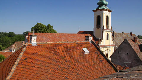 Old European Village 24 rooftops Footage