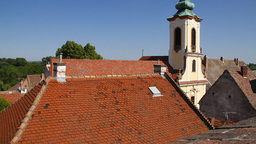 Old European Village 24 rooftops Stock Video Footage