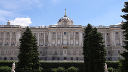 Palazzo Reale Di Madrid 01 3 in 1 Stock Video Footage