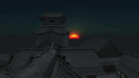 Japan Castle Stock Video Footage