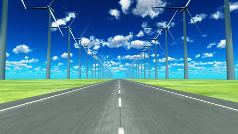 Wind power generation Stock Video Footage