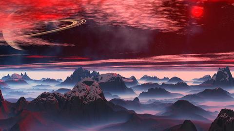 Fantastic planet. Saturn Animation