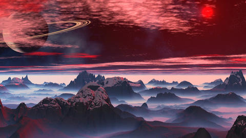 Fantastic planet. Saturn Stock Video Footage