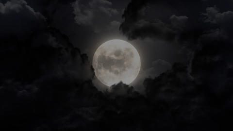dark large moon Stock Video Footage
