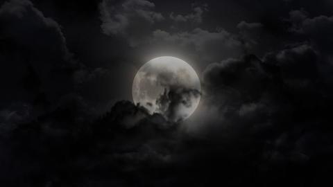 dark large moon Stock Video Footage