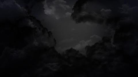 dark sky and thunder Stock Video Footage