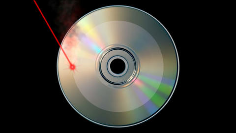 CD DVD burning Stock Video Footage
