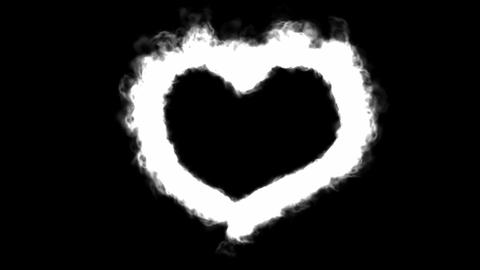 Fire love heart Stock Video Footage