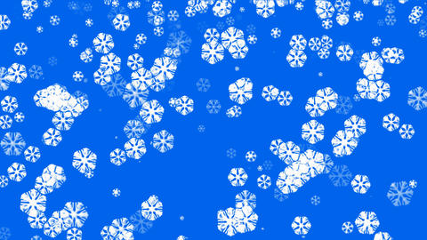 falling snowflake shaped flower pattern,chrismas,xmas,lace,wedding background.clean,crystallization Animation