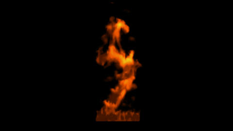 burning numbers 2 burning,flames on black background Stock Video Footage