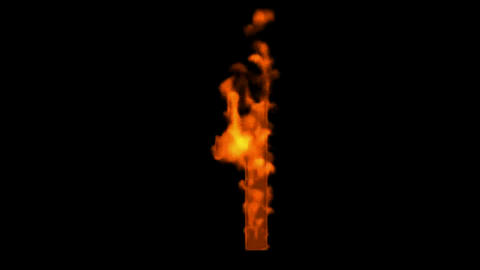burning numbers 1 burning,flames on black background Stock Video Footage