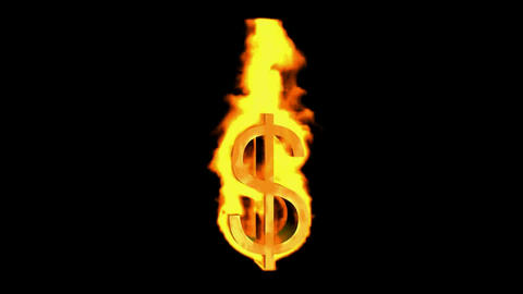 fire dollar sign Stock Video Footage