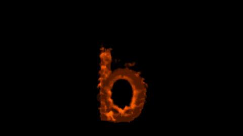 fire alphabet b Stock Video Footage