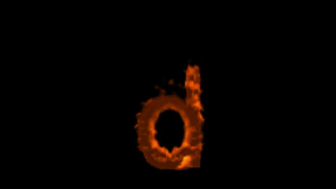 fire alphabet d Stock Video Footage