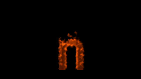 fire alphabet n Stock Video Footage