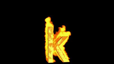 fire alphabet k Stock Video Footage