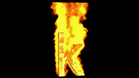 fire alphabet k Stock Video Footage