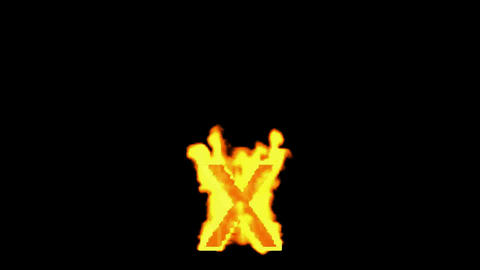 fire letter x Stock Video Footage