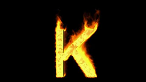 fire letter k Stock Video Footage