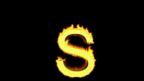fire letter S Stock Video Footage