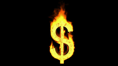 fire dollar sign Animation