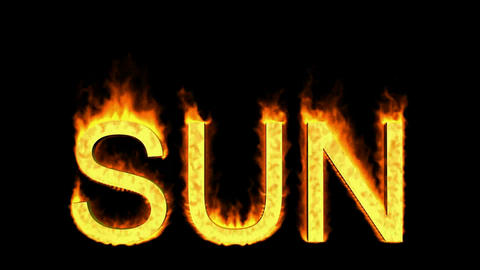 word sun in flames Stock Video Footage