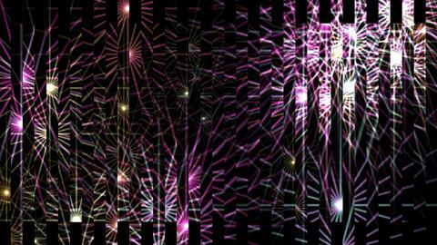 glass debris with dazzling waveform light,concert neon... Stock Video Footage