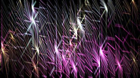 glass debris with dazzling waveform light,fiber,concert... Stock Video Footage