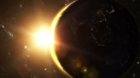 Planet Earth - Sunrise 01 Animation