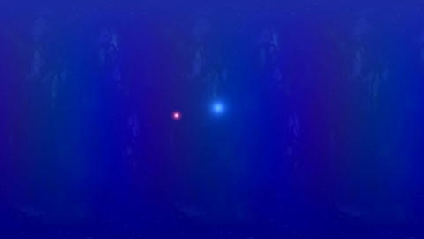 Blue fog and UFO Stock Video Footage