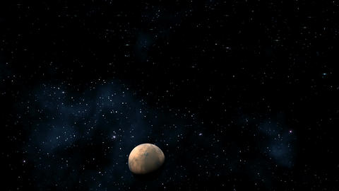 The moon (planet) in the star sky Animation