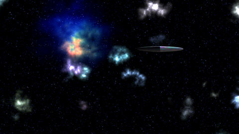 UFO. Nebula. Stars Stock Video Footage