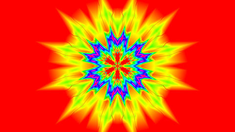 Rotating color flower (pattern) Stock Video Footage