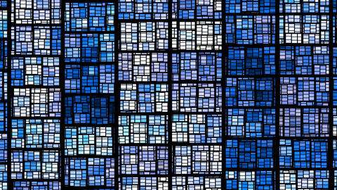 Background from blue rectangles Stock Video Footage