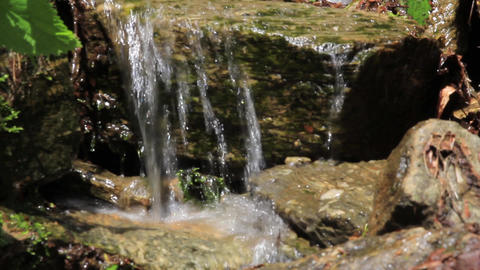 Mountain spring water 02 Footage