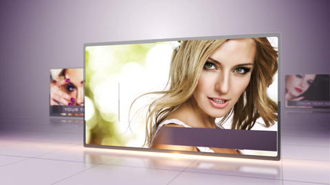 Purple Photo Presentation After Effects Template