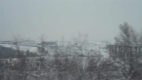 Regard on the train window 34 Footage